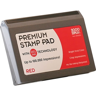 2000PLUS® Gel-Based Stamp Pad, Red, #1- 2 3/4