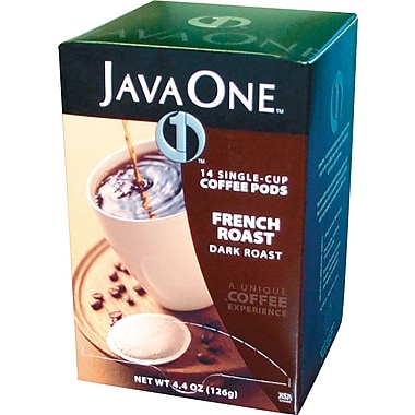 Java One® Single Cup French Roast Ground Coffee, Regular, .3 oz., 14 Pods