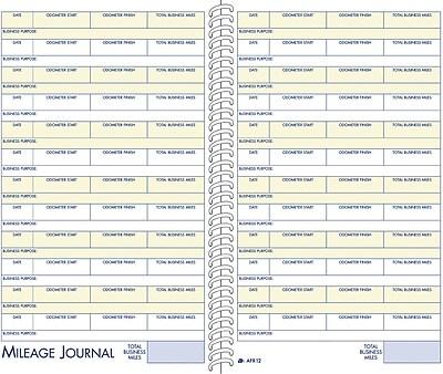 Adams® Vehicle Mileage & Expense Record Book, 5-1/4