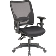 Office Star SPACE Mesh Conference Office Chair, Adjustable Arms, Black (6806)