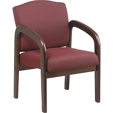 Office Star™ Mahogany Finish Wood Guest Chairs