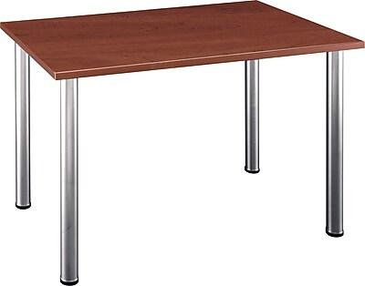 Bush Business Aspen 48W x 28-1/2D Rectangle Table, Hansen Cherry