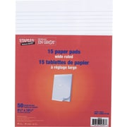 "Staples® Figuring Pads, 8-3/8"" x 10-7/8"", White"