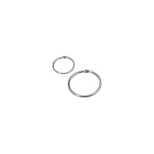 """Book Rings, 3"""" Diameter, Silver"""