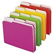 Smead Top Tab File Folders, 1/3 Cut, Neon Colors, LETTER-size Holds 8 1/2