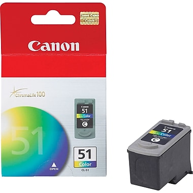 Canon® CL-51 Colour Ink Cartridge, High Yield (618B002AA)