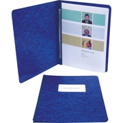 "Acco Report Covers with Fasteners, 8 1/2"" c. to c.: 3"" Capacity, 8 1/2"" x 11"", Pressboard, Dark Blue"
