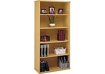 Bush Business Westfield 36W 5 Shelf Bookcase, Danish Oak