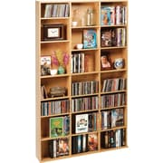 Atlantic Oskar Adjustable Multimedia Storage - 21 Shelves, Maple