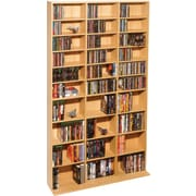 Atlantic Oskar Adjustable Multimedia Storage, 28 Shelves, Maple