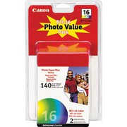 Canon® BCI-16 Colour Ink Cartridges, Twin Pack