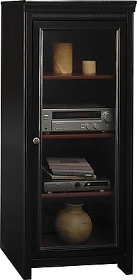 Bush Furniture Stanford Media Cabinet, Antique Black/Hansen Cherry (AD53940-03)