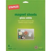 "Staples® Inkjet Magnetic Sheets, 8 1/2"" x 11"", 4 Sheets (34747-CC)"