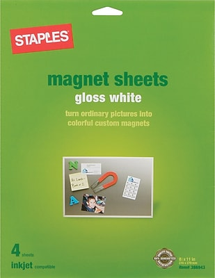 Staples® Inkjet Magnetic Sheets, 8 1/2