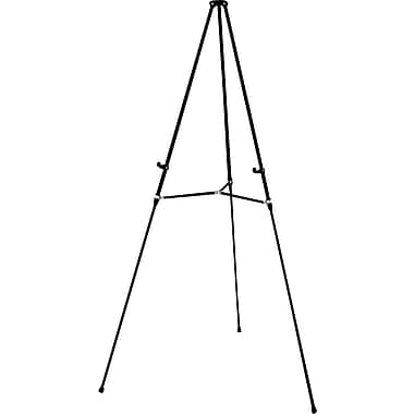 Quartet® Black Aluminum Lightweight Telescoping Display Easels