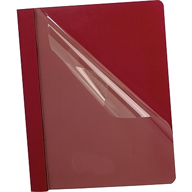 Oxford® Deluxe Clear Front Report Covers, Red