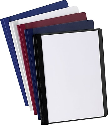 Oxford Deluxe Clear-Front Report Covers, Light Blue