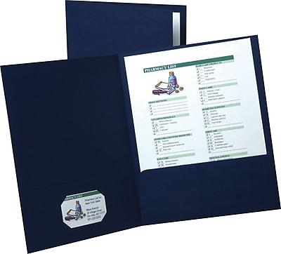 Esselte® Linen 2-Pocket Portfolios, Black