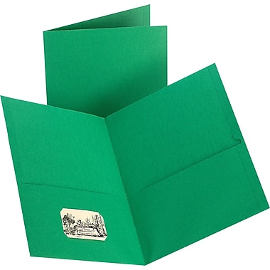 Staples® 2-Pocket Folder, Green