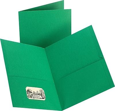 Staples® 2-Pocket Folder, Green