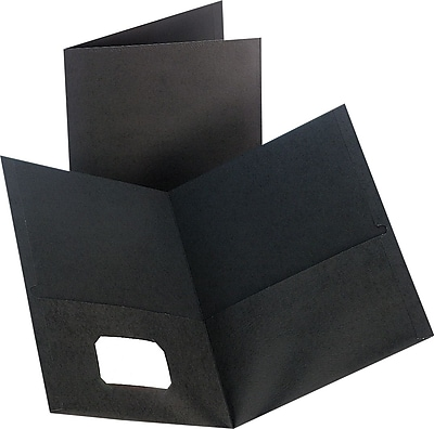 Staples® 2-Pocket Folder, Black