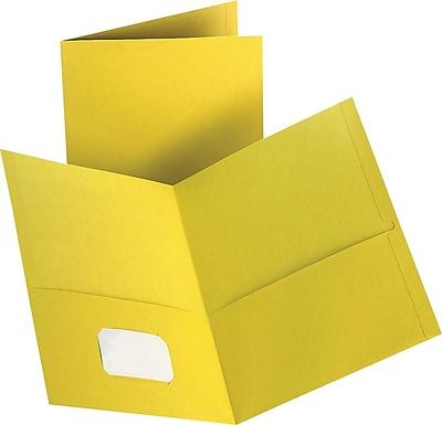 Staples 2-Pocket Folder, Yellow, 10/PK (13385-CC)