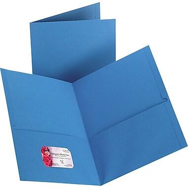Staples 2-Pocket Folder, Light Blue, 10/PK (13381-CC)