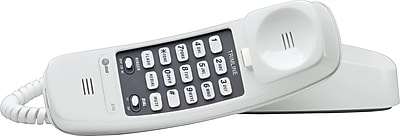 AT&T 210 Trimline Corded Phone, Wall-Mountable, White