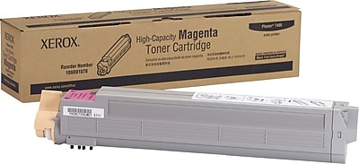 Xerox Phaser 7400 Magenta Toner Cartridge (106R01078), High Yield