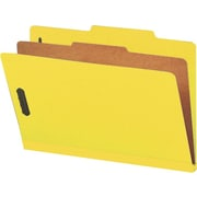 "Smead® Pressboard Classification File Folder with SafeSHIELD®, 1 Divider, 2"" Expansion, Legal Size, Yellow, 10 per Box (18734)"