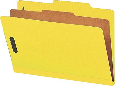 Smead® Pressboard Classification File Folder with SafeSHIELD®, 1 Divider, 2