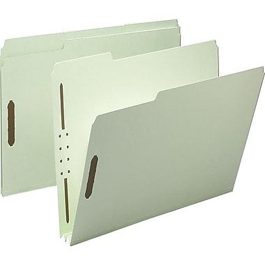 Staples® Gray/Green Pressboard Fastener Folders, Letter, 3 Tab, 2