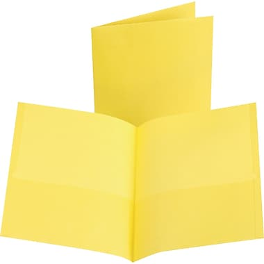 Oxford 2-Pocket Folder, Yellow, 25/Box