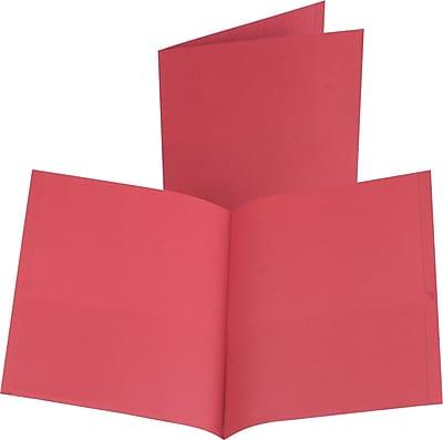 Esselte Oxford 2-Pocket Folders, Red, 25/Box (57511)