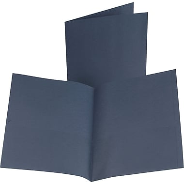 Esselte Oxford 2-Pocket Folder, Dark Blue, 25/Box (57538)