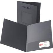 Oxford Laserview Premium 2-Pocket Folders, Black