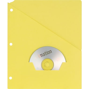Oxford Recycled Slash Pocket Project Folders, 3-Hole Punched, Yellow