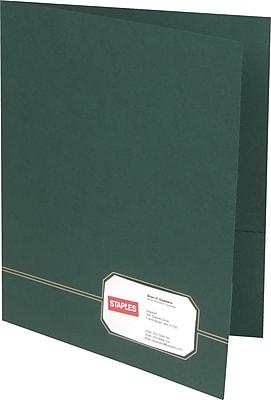 Oxford Design Monogram 2-Pocket Folders, Green/Gold