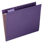 Pendaflex Earthwise 100% Recycled Paper Hanging Folders, Kraft, Letter, Violet, 25/Box (74535)