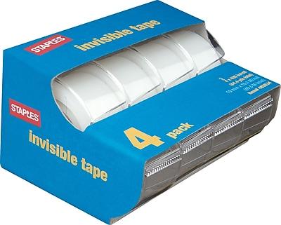 Staples Invisible Tape Caddies, 3/4