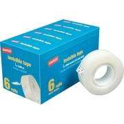 """Staples® Invisible Tape, 3/4"""" x 1,296"""", 6/Pack (52380P6)"""