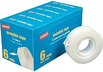 Staples® Invisible Tape, 3/4' x 1296', 6-Pack (52380-P6)