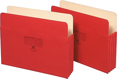 Globe-Weis® Colored File Pockets, Letter Size, 3-1/2