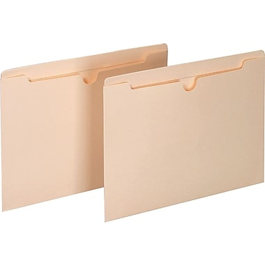 Staples® Manila File Jackets with Reinforced Tab, Letter, Flat, 100/Box