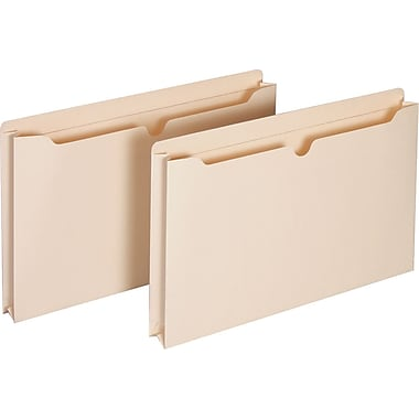 Staples® Manila File Jackets with Reinforced Tab, Legal, 2