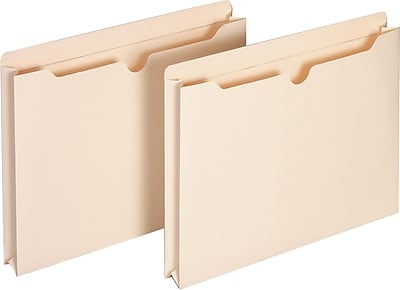Staples File Jackets with Reinforced Tab, 1.5