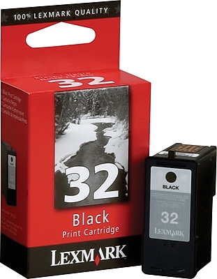 in Retail Packaging 32 Lexmark 18C0032 Black Ink Cartridge