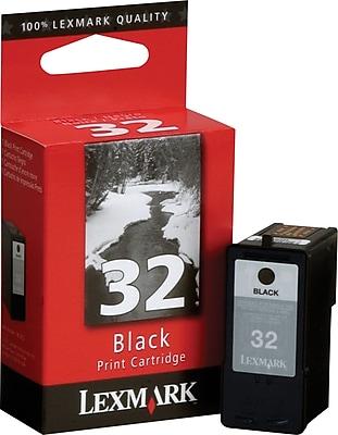 in Retail Packaging 32 Lexmark 18C0032 Black Ink Cartridge