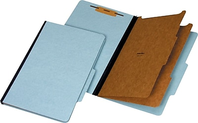 Staples® Recycled Classification Folders, 2/5-Cut Tab,Legal, 2 Partitions, 20/Box (98765SB)