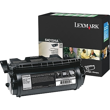 Lexmark™ – Cartouche de toner noire 64015HA, haut rendement